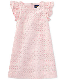Ralph Lauren Eyelet Cotton Dress, Toddler Girls