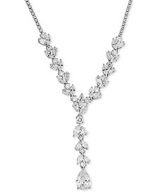 "Arabella Swarovski Zirconia 18"" Lariat Necklace in Sterling Silver"
