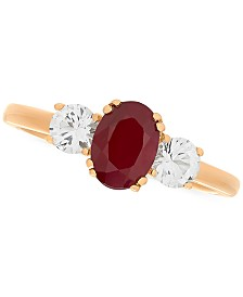 Ruby (1 ct. t.w.) & White Sapphire (5/8 ct. t.w.) Ring in 14k Gold