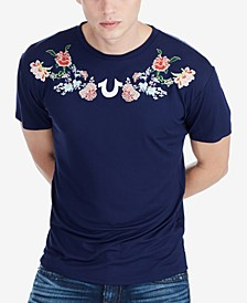 Men's Floral-Embroidered T-Shirt