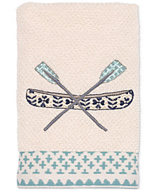 Avanti Lake Life Cotton Embroidered Hand Towel