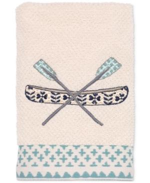 Avanti Lake Life Cotton Embroidered Hand Towel Bedding