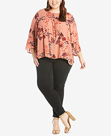 Eyeshadow Trendy Plus Size Floral-Print Top