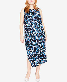 RACHEL Rachel Roy Trendy Plus Size Draped-Back Midi Dress