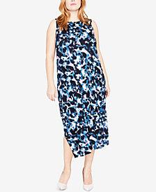 RACHEL Rachel Roy Trendy Plus Size Draped-Back Midi Dress