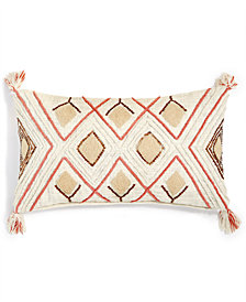 "Lacourte Alamada 14"" x 24"" Tufted-Chenille Sequin Decorative Pillow, Created for Macy's"