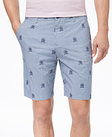 """Tommy Hilfiger Men's Allover Print Striped 9"""" Shorts, Created for Macy's"""