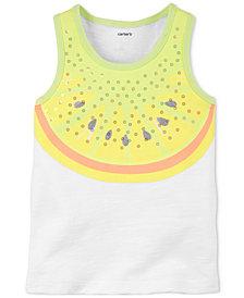 Carter's Lemon-Print Cotton Tank Top, Little & Big Girls