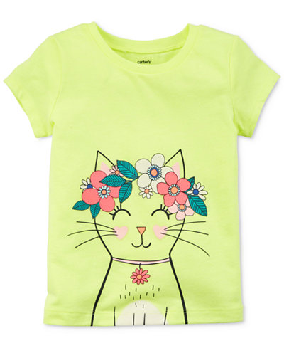 Carter's Cat Graphic-Print T-Shirt, Toddler Girls