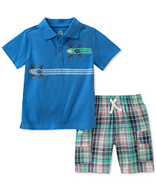 Kids Headquarters 2-Pc. Race Car Cotton Polo & Plaid Shorts Set, Toddler Boys