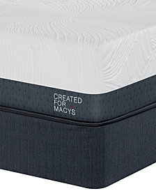"MacyBed Lux Greenbriar 12"" Plush Euro Top Memory Foam Mattress Set - California King, Created for Macy's"