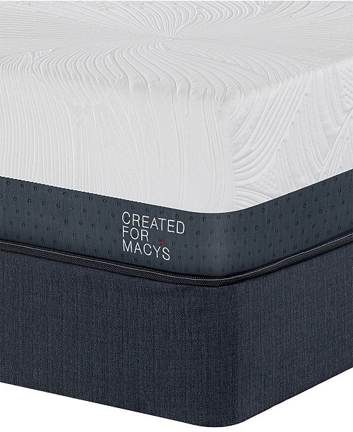 "Macybed Lux Greenbriar 12"" Plush Euro Top Memory Foam Mattress Set - Queen Split, Created for Macy's"