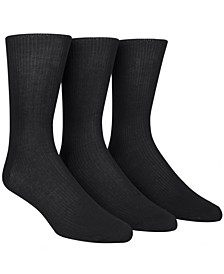 Dress Men's Socks, Non Binding 3 Pack