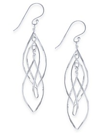 Plated Interlocking Drop Earrings
