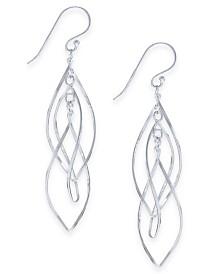 Essentials Plated Interlocking Drop Earrings