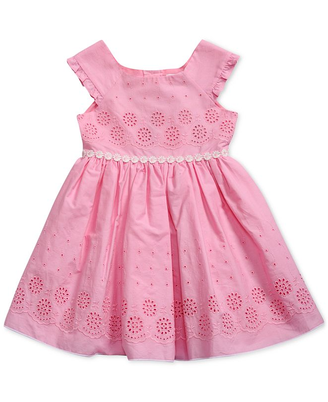 Sweet Heart Rose Baby Girls Eyelet Dress