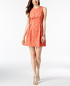 Jessica Howard Petite Sleeveless Lace Dress