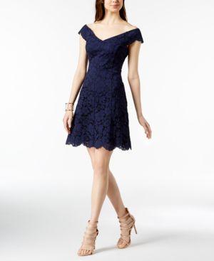 Vince Camuto Off-The-Shoulder Lace Dress 5707465