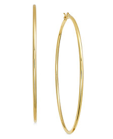 Essentials Gold Plated Wire Tube Hoop Earrings
