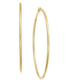 Essentials Extra Large Gold Plated Wire Tube Hoop Earrings