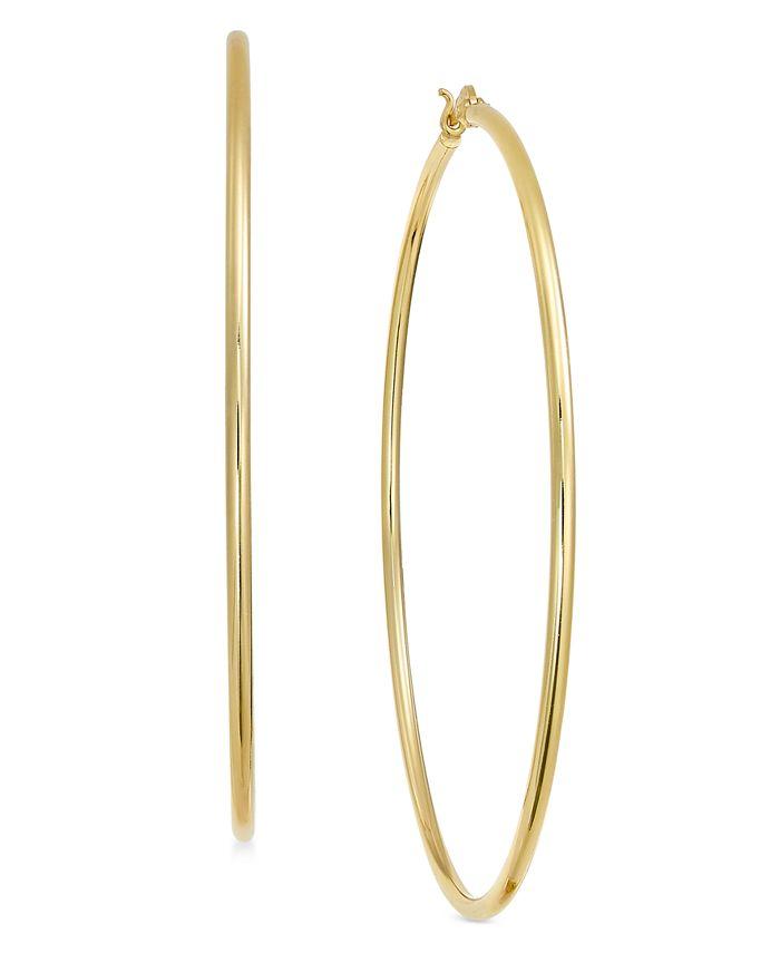 Essentials - Wire Tube Hoop Earrings