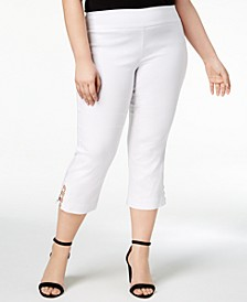 Petite Plus Size Tummy Control Capri Pants, Created for Macy's