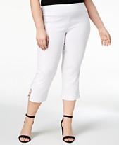 f21ea7fc6d1 JM Collection Plus   Petite Plus Size Tummy Control Capri Pants