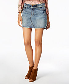 American Rag Juniors' Cotton Denim Mini Skirt, Created for Macy's
