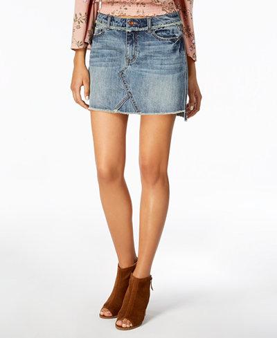 American Rag Juniors' Cotton Denim Mini Skirt, Created for Macy's