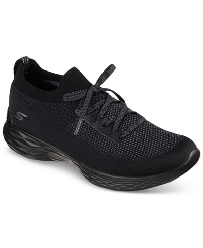Skechers Women's 4 YOU - Shine Casual Walking Sneakers from Finish Line from Finish Line