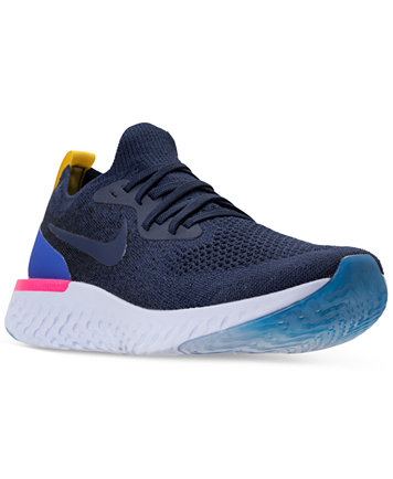 Image 1 of Nike Men's Epic React Flyknit Running Sneakers from Finish Line