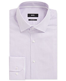 BOSS Men's Striped Cotton Dress Shirt