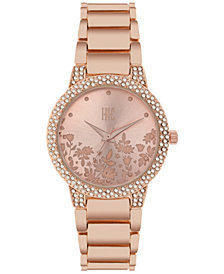 I.N.C. Women's Rose Gold-Tone Bracelet Watch 34mm, Created for Macy's