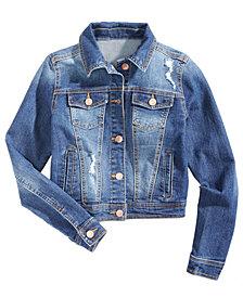 Celebrity Pink Destructed Denim Jacket, Big Girls