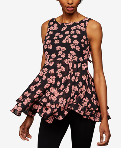 A Pea In The Pod Maternity Floral-Print Peplum Top
