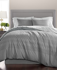 CLOSEOUT! Martha Stewart Collection Eyelet Stripe Cotton 8-Pc. California King Comforter Set, Created for Macy's