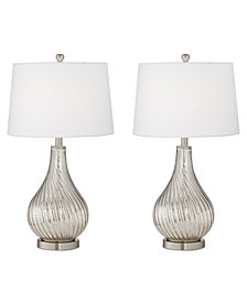 Pacific Coast Set of 2 Wave Mecure Table Lamps, Created for Macy's