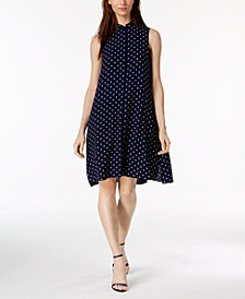 Anne Klein Dot-Print Shift Dress