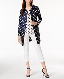 Anne Klein Dot-Print Topper Jacket