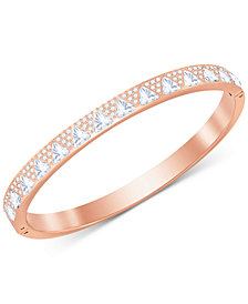 Swarovski Rose Gold-Tone Crystal Triangle Bangle Bracelet