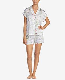 Lauren Ralph Lauren Classic Woven Botanical-Print Pajama Set