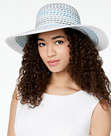 I.N.C. Multicolor Stripe Floppy Hat, Created for Macy's