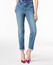I.N.C. Curvy-Fit Cuffed Boyfriend Jeans, Created for Macy's