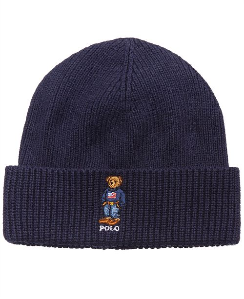8f3f8b619c1 Polo Ralph Lauren Men S Bear Cuffed Hat Hats Gloves