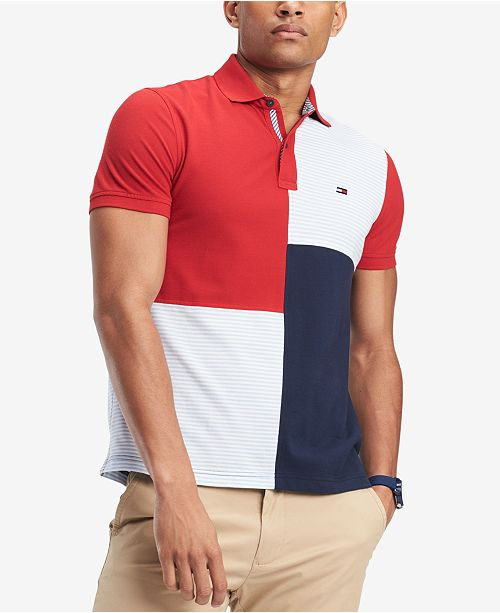 c76e3e29 Tommy Hilfiger Men's Stevans Custom Fit Polo & Reviews - Polos - Men ...