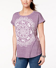 Style & Co Circular Graphic T-Shirt, Created for Macy's