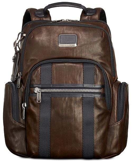 ded1dc5d9 Tumi Men's Alpha Bravo Nellis Leather Backpack & Reviews - All ...