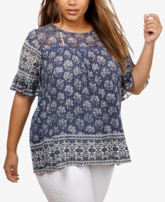 Xscape Plus Size Illusion Beaded Gown Dresses Women