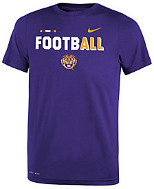 Nike LSU Tigers Legend Football T-Shirt, Big Boys (8-20)