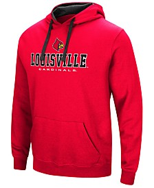 Colosseum Men's Louisville Cardinals 3 Stack Logo Hoodie